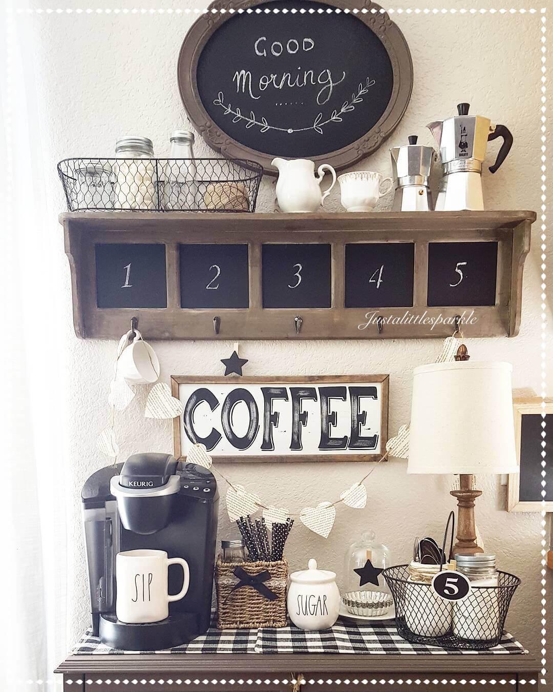 24 best coffee mug organization ideas and designs for 2017 for Coffee bar decor