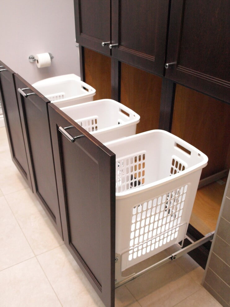 Dirty Laundry Storage in Bathroom