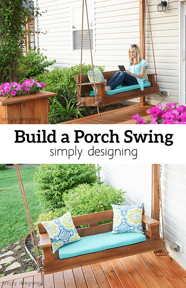 21 best diy porch swing bed ideas and designs for 2018 beautifulbuildable wooden porch swing solutioingenieria Gallery