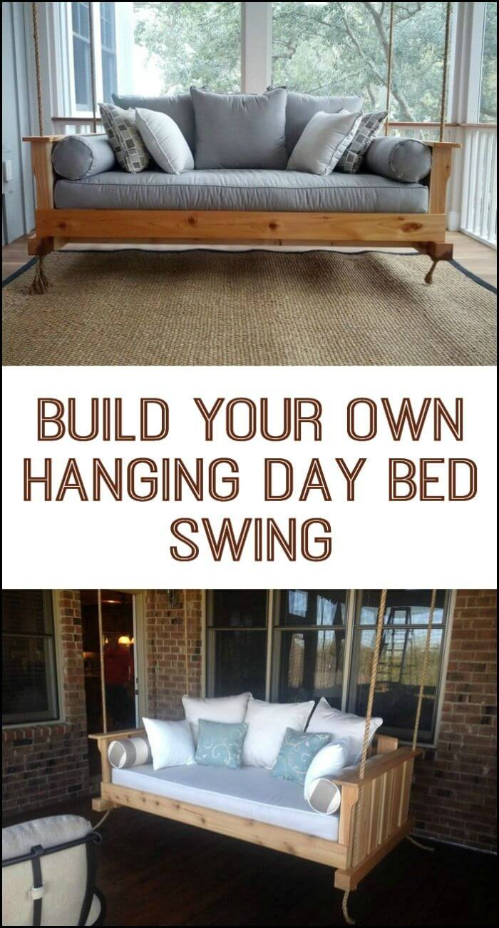 21 best diy porch swing bed ideas and designs for 2019. Black Bedroom Furniture Sets. Home Design Ideas