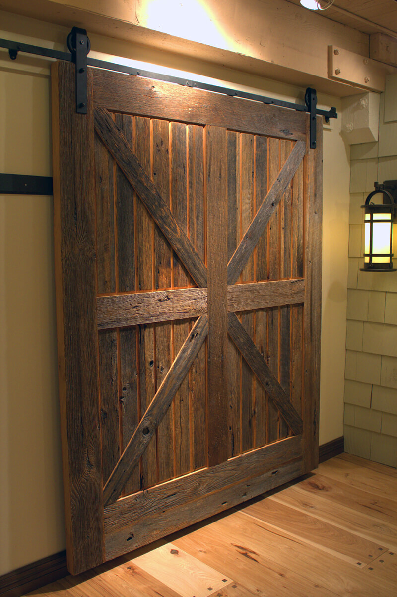 Barn Door Ideas Part - 36: Barnyard Chalet Oversized Sliding Door