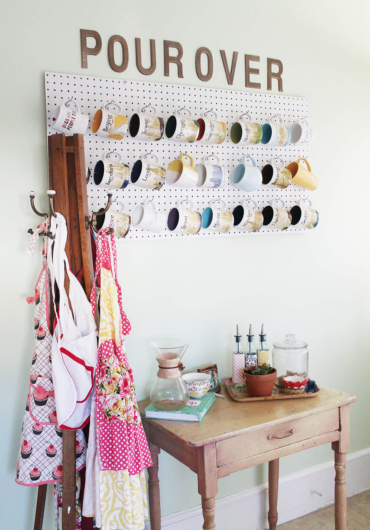 Easy and Artful Pegboard Mug Hanger