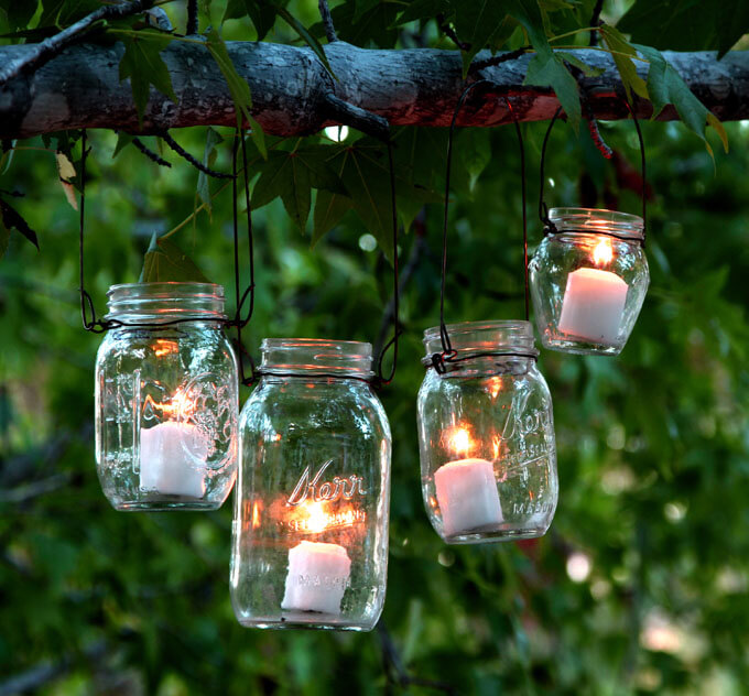 Simple Mason Jar Backyard Lighting Ideas