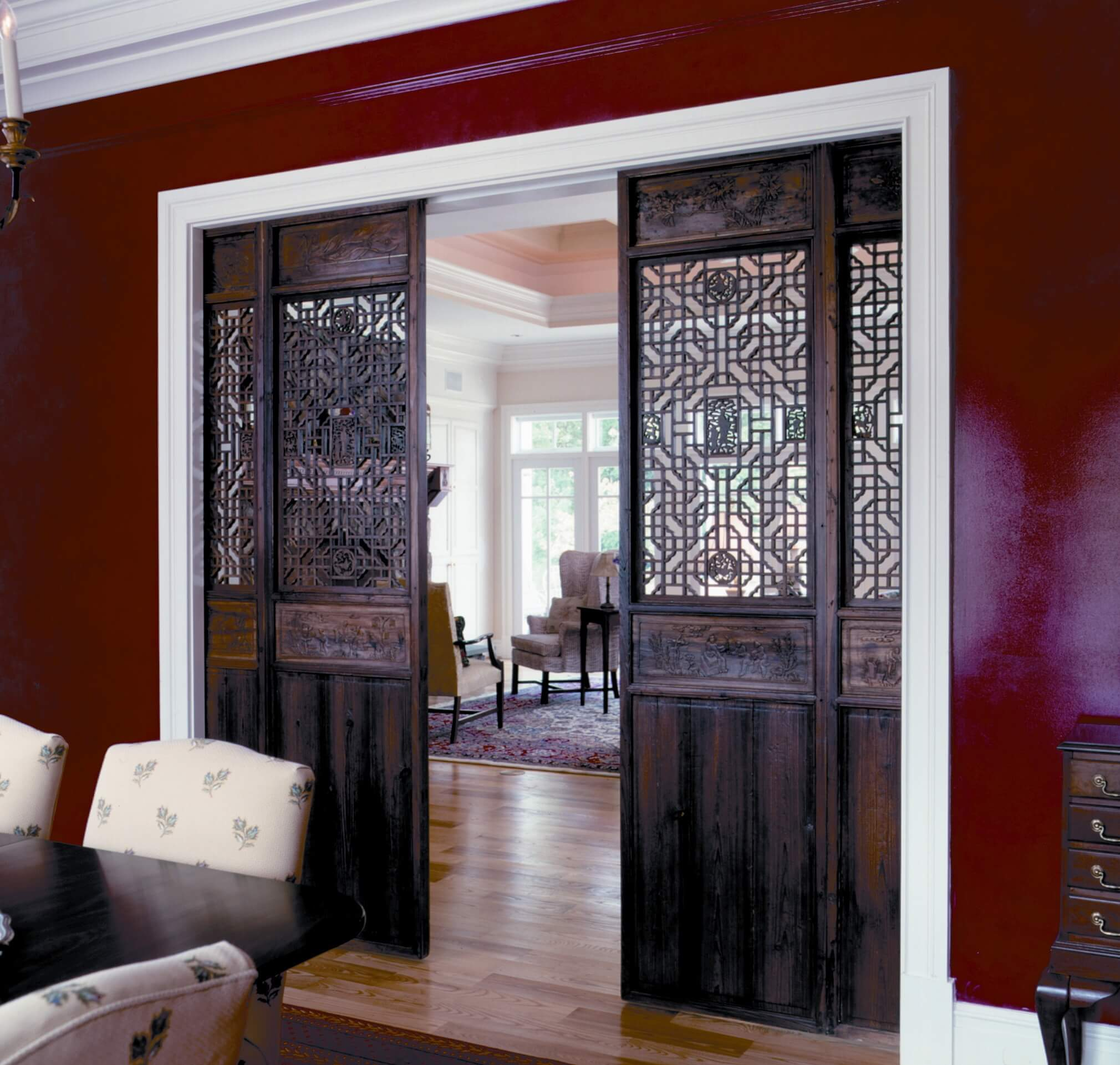 Venetian Grotto Inspired Sliding Doors