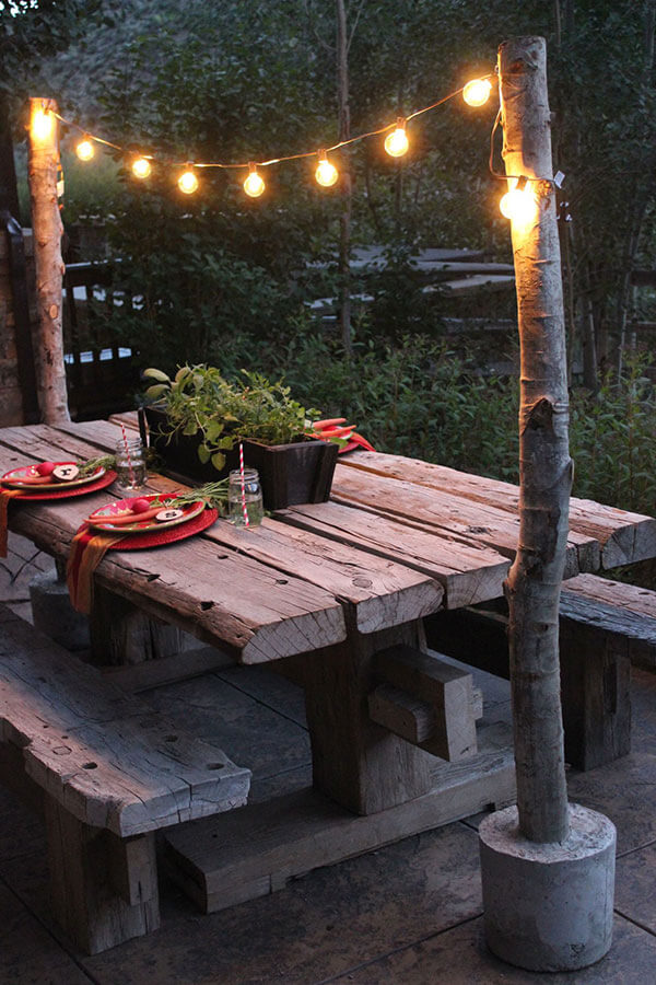 Charmingly Rustic Minimalistic String Lights