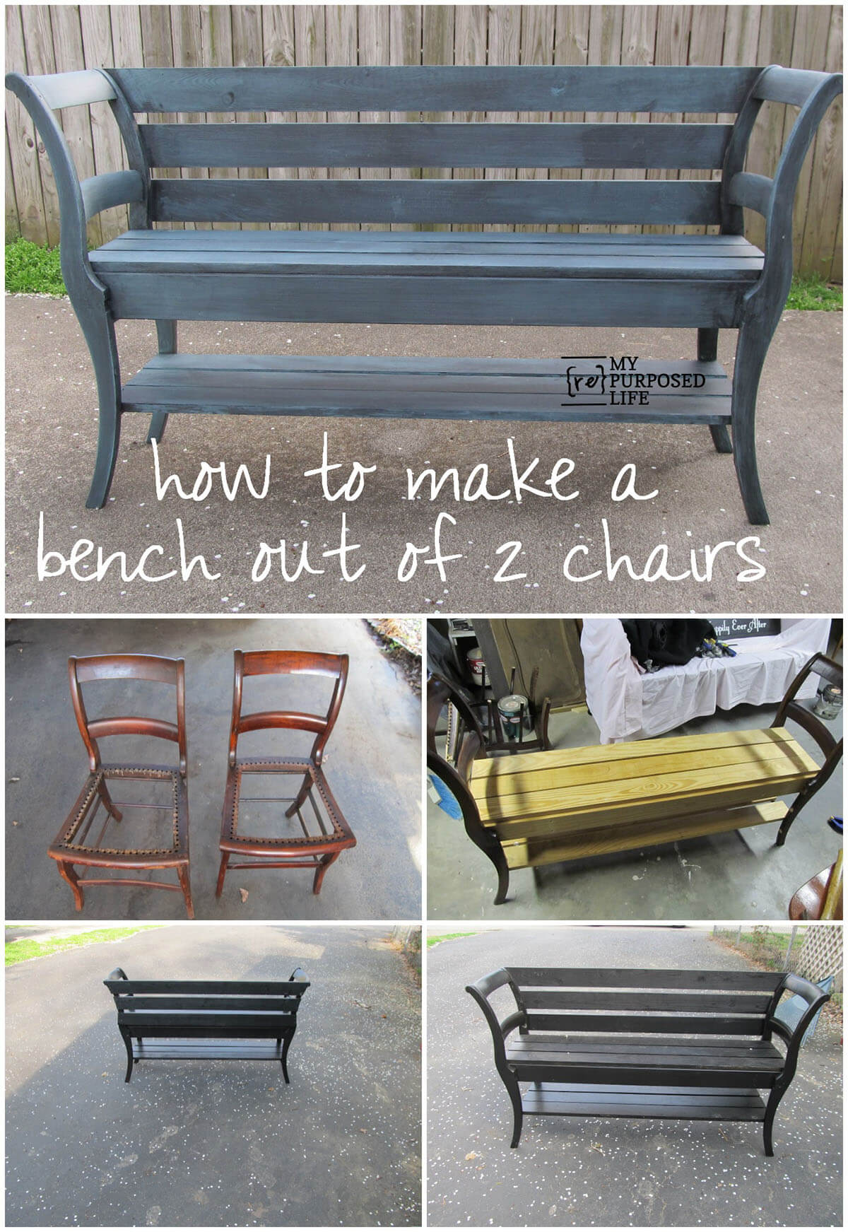 Creative and Innovative Dual Chair Bench