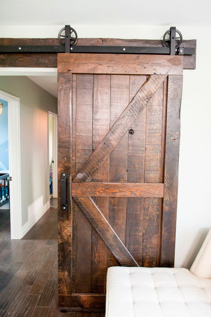 Attractive Polished And Repurposed Wooden Entry Door