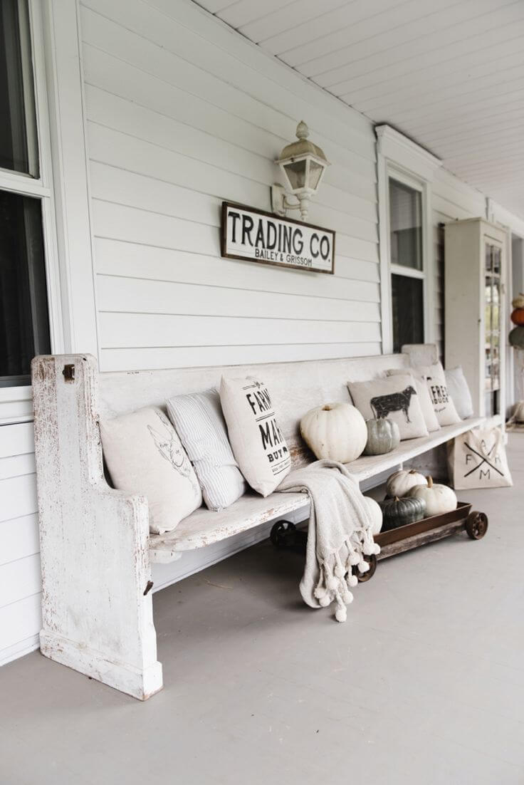 Rustic Farmhouse Porch Antique Sign