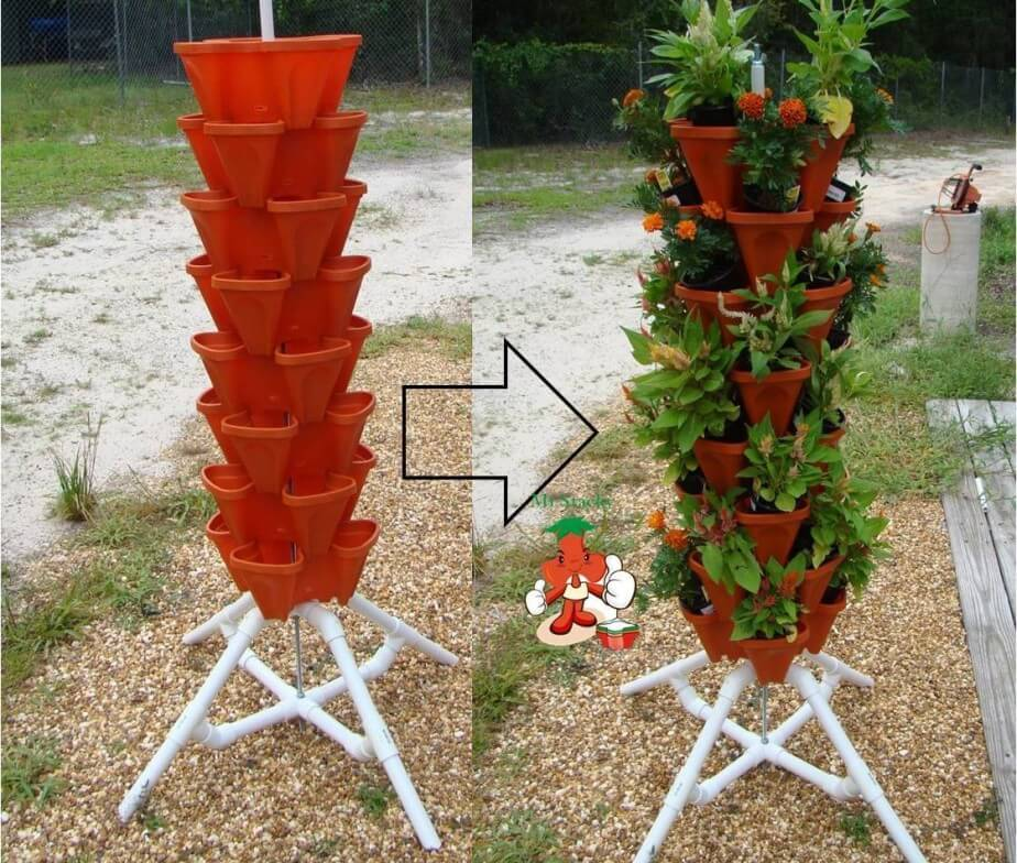 The Green Tower for Flowers and Herbs