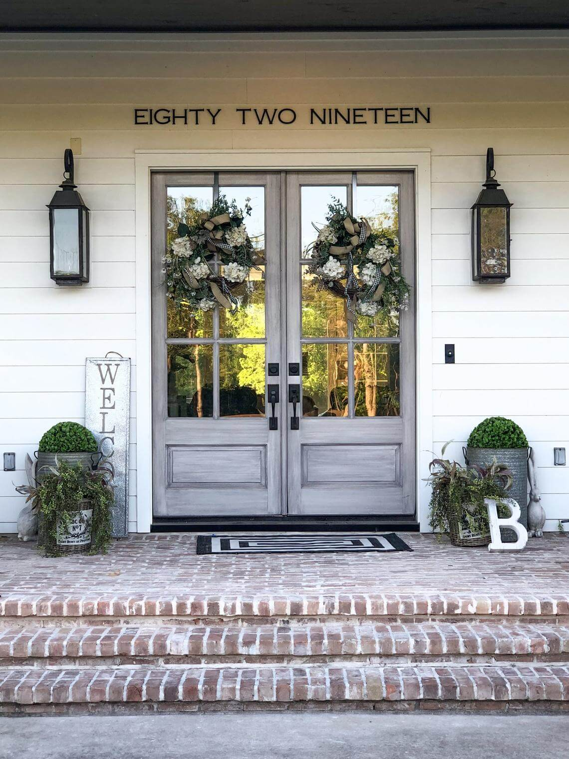 Chiseled Large House Number Letters