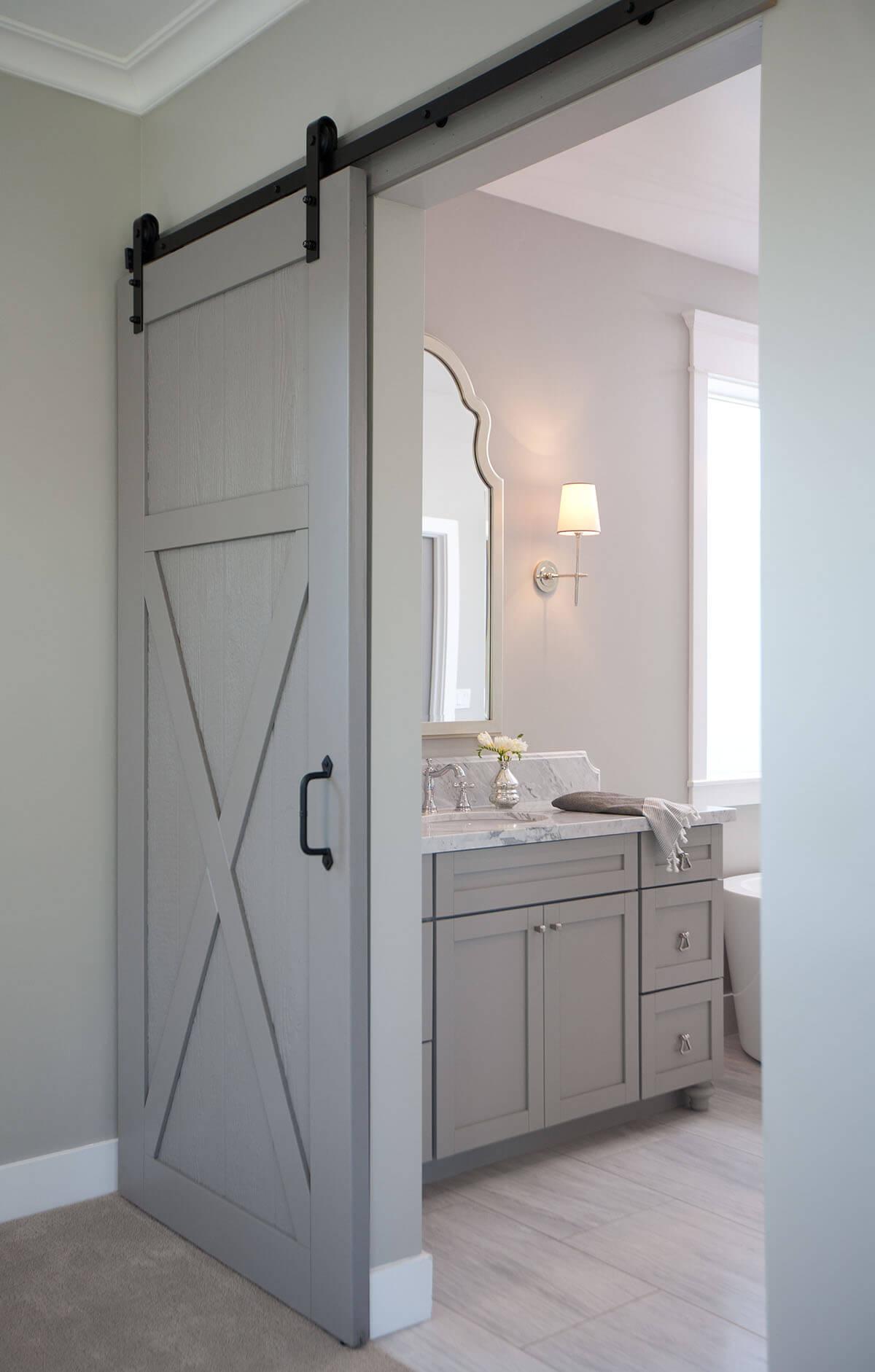 Seaside Blue Sliding Bedroom Door
