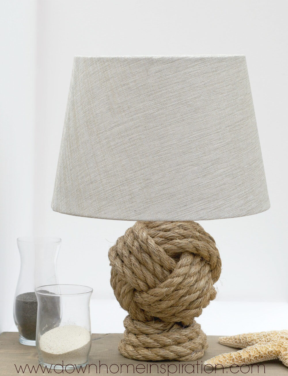 A Nautical Knot Lamp at the Shore