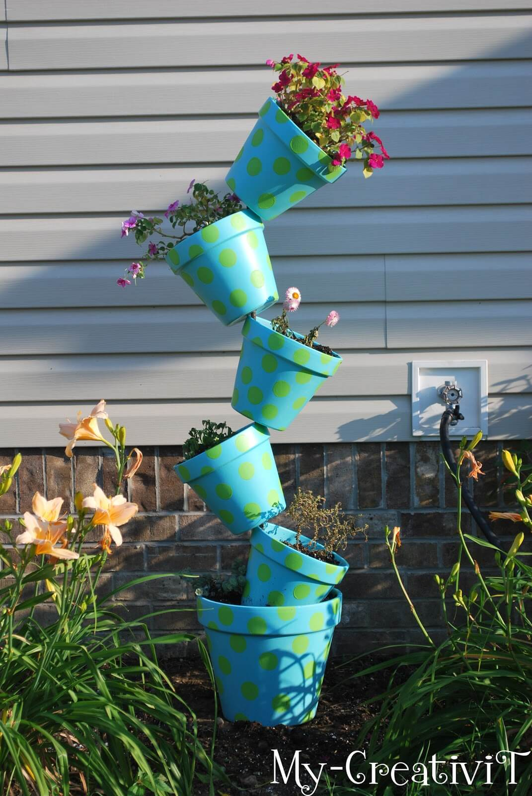 Crazy Polka Dotted Teetering Tower