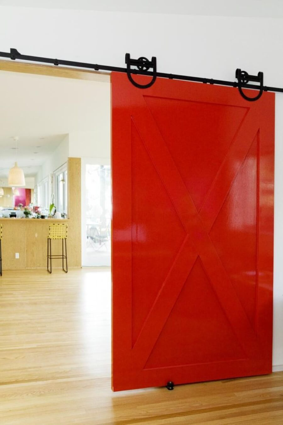 Cheerful Cherry Sliding Bedroom Barn Door