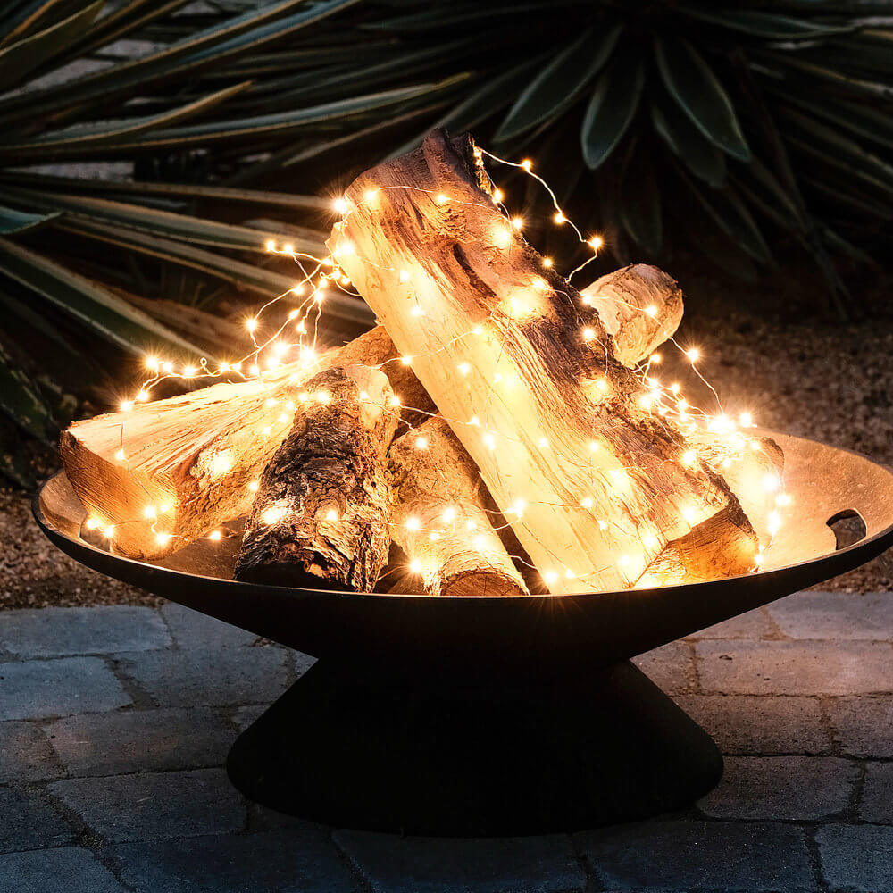 Flameless Fire Pit Fairy Lights