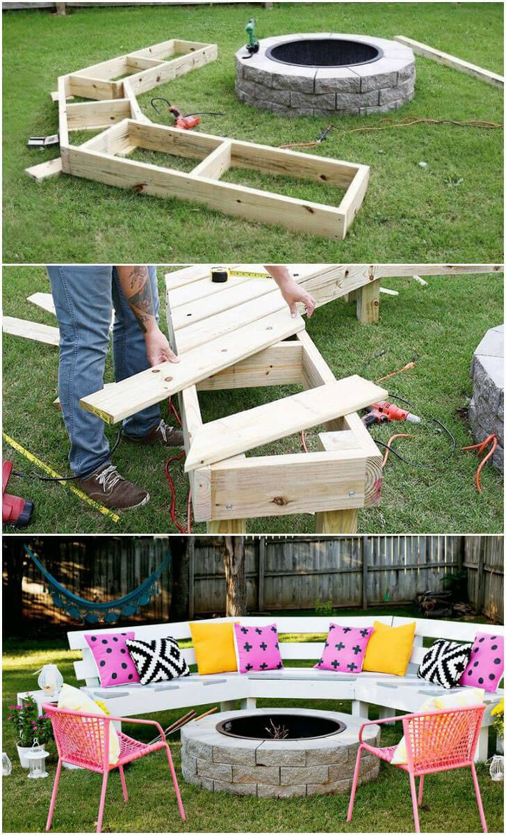 Perfect for Bonfires Semi-Circular Bench