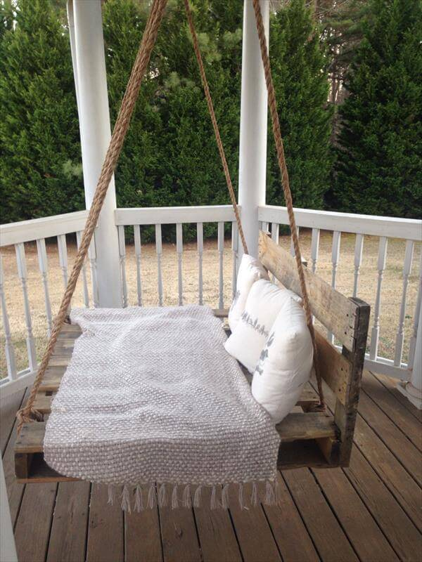 21 best diy porch swing bed ideas and designs for 2018 rustic repurposed wooden crate swing solutioingenieria Gallery
