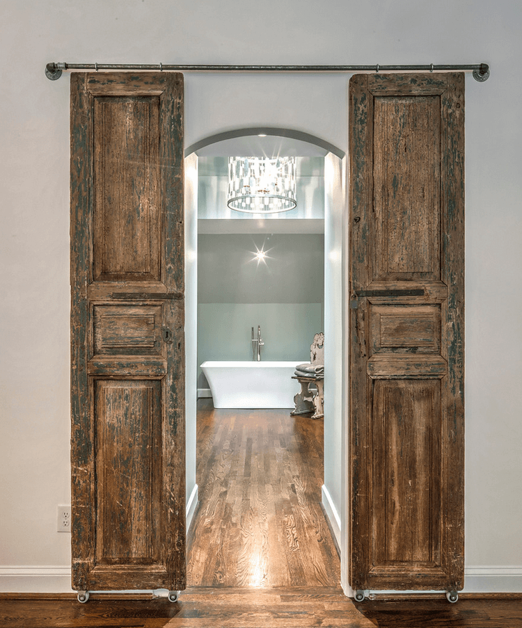 Enchanted Chateau Wooden Bathroom Doors