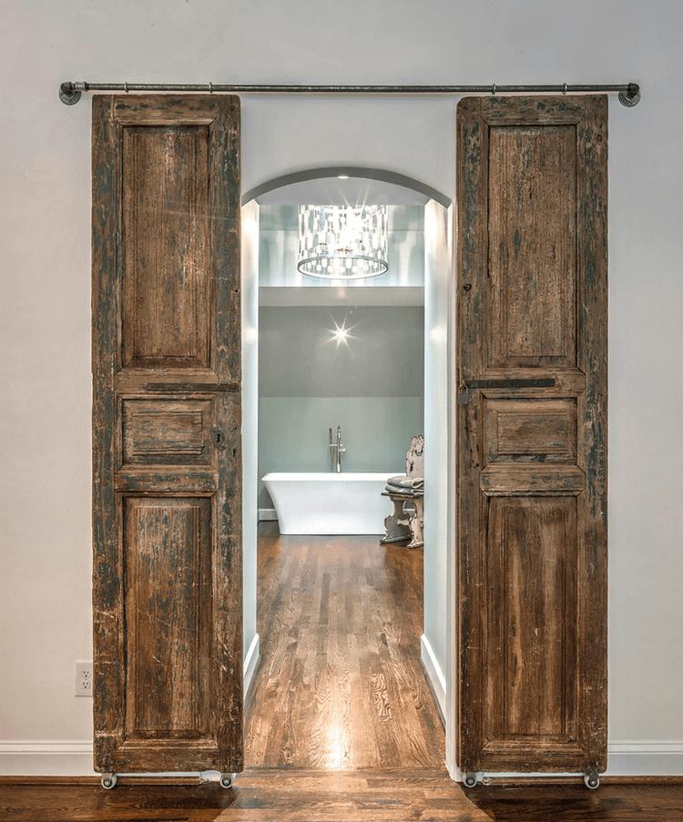 Enchanted Chateau Wooden Bathroom Doors