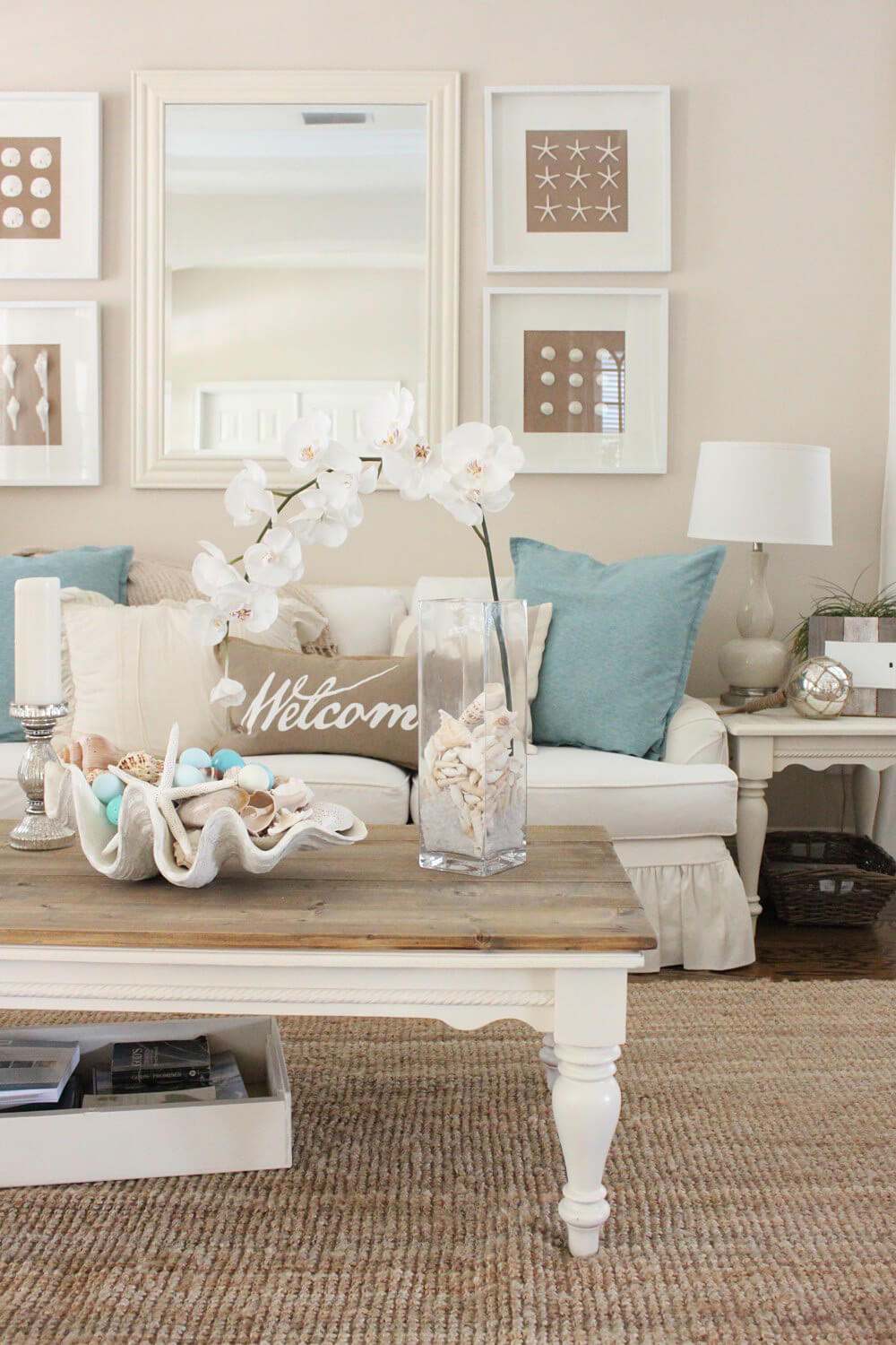 Welcoming Beach Motif for Your Living Space