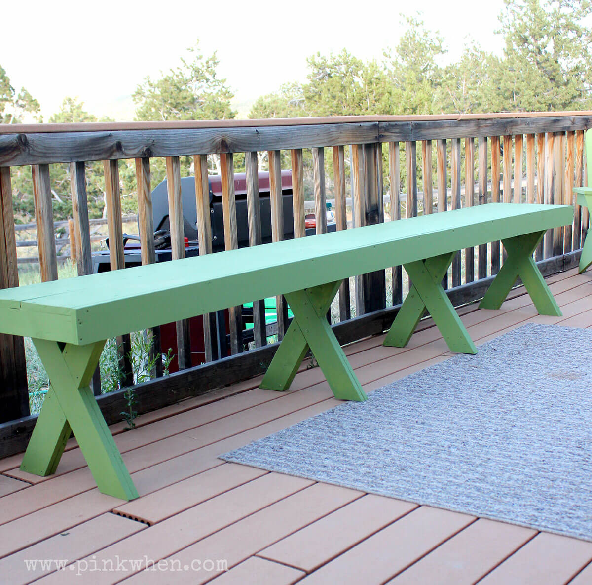 Captivating Picnic And BBQ Style Long Bench