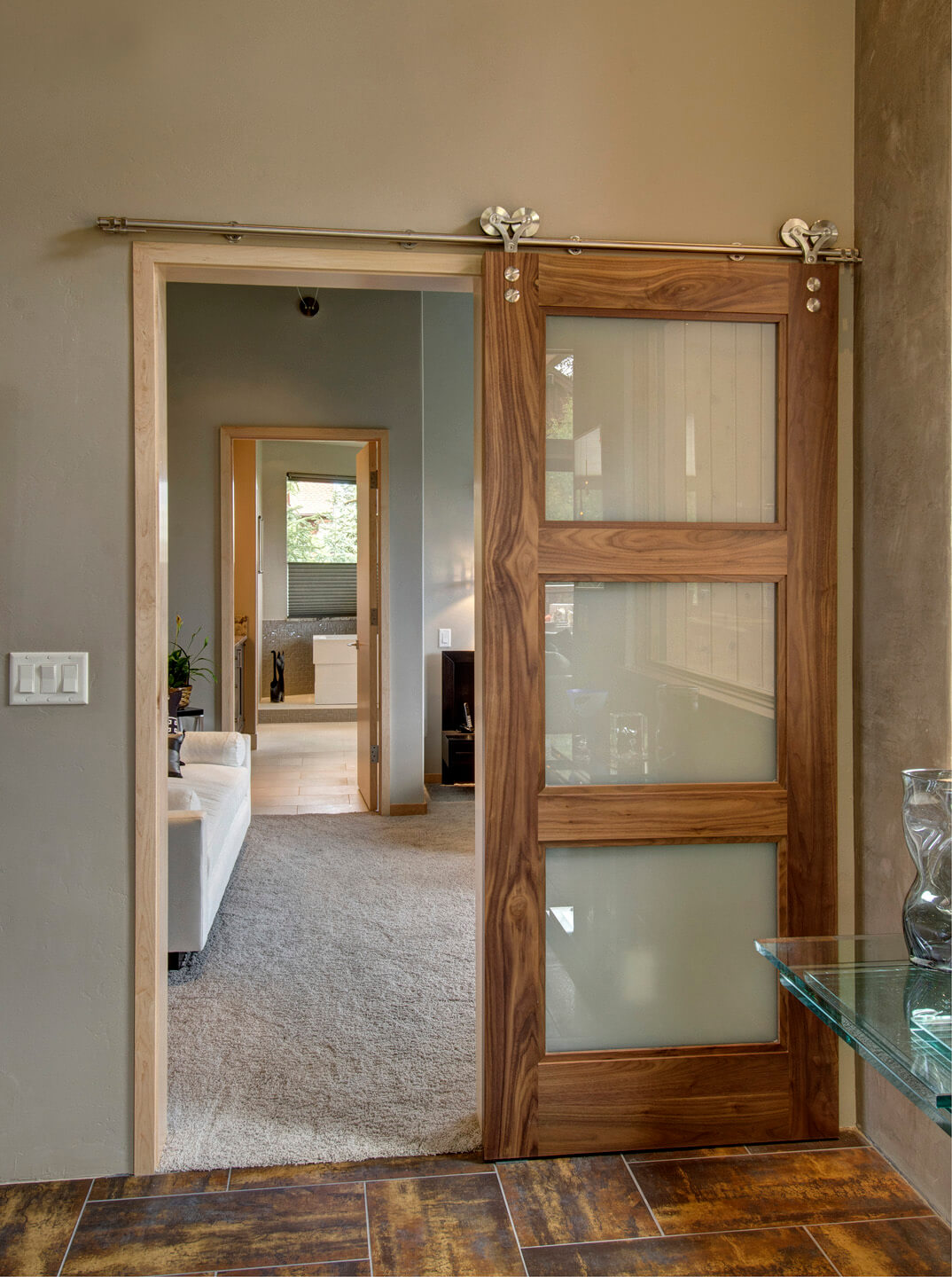 Spa Retreat Sliding Partition Door : barn door designs - pezcame.com