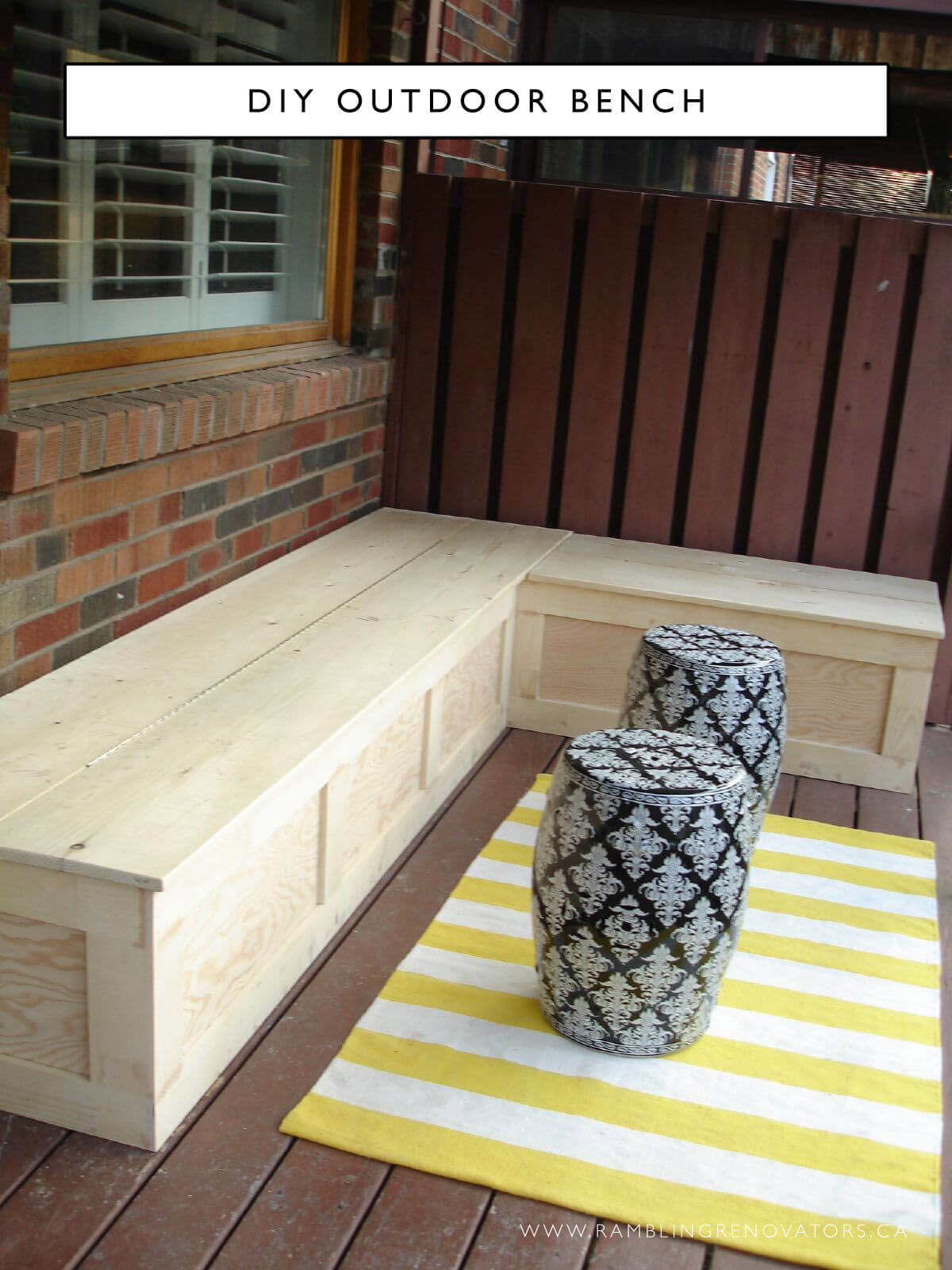 Simple Style Corner Bench