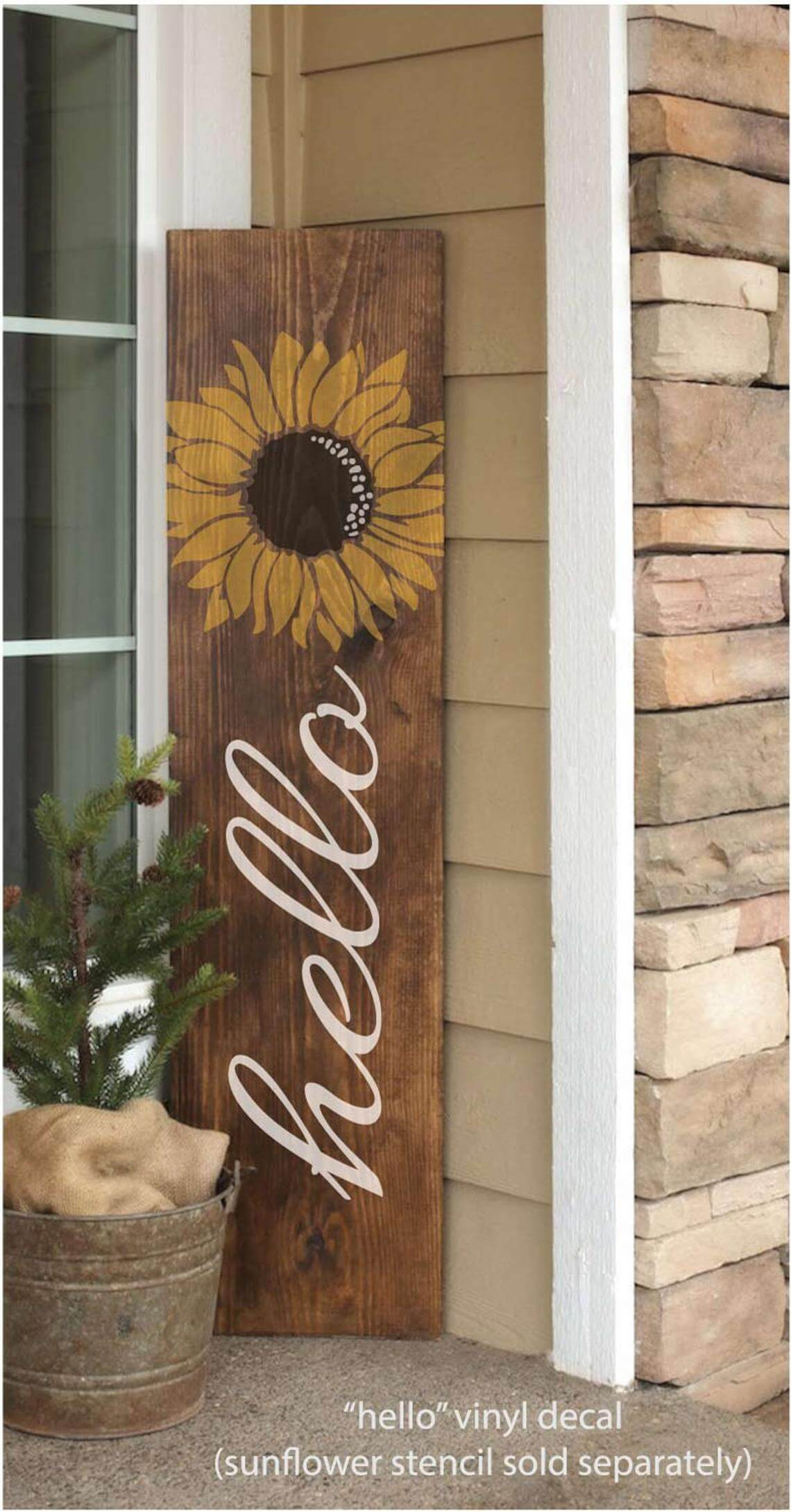 hello Vinyl Decal Sign Lettering