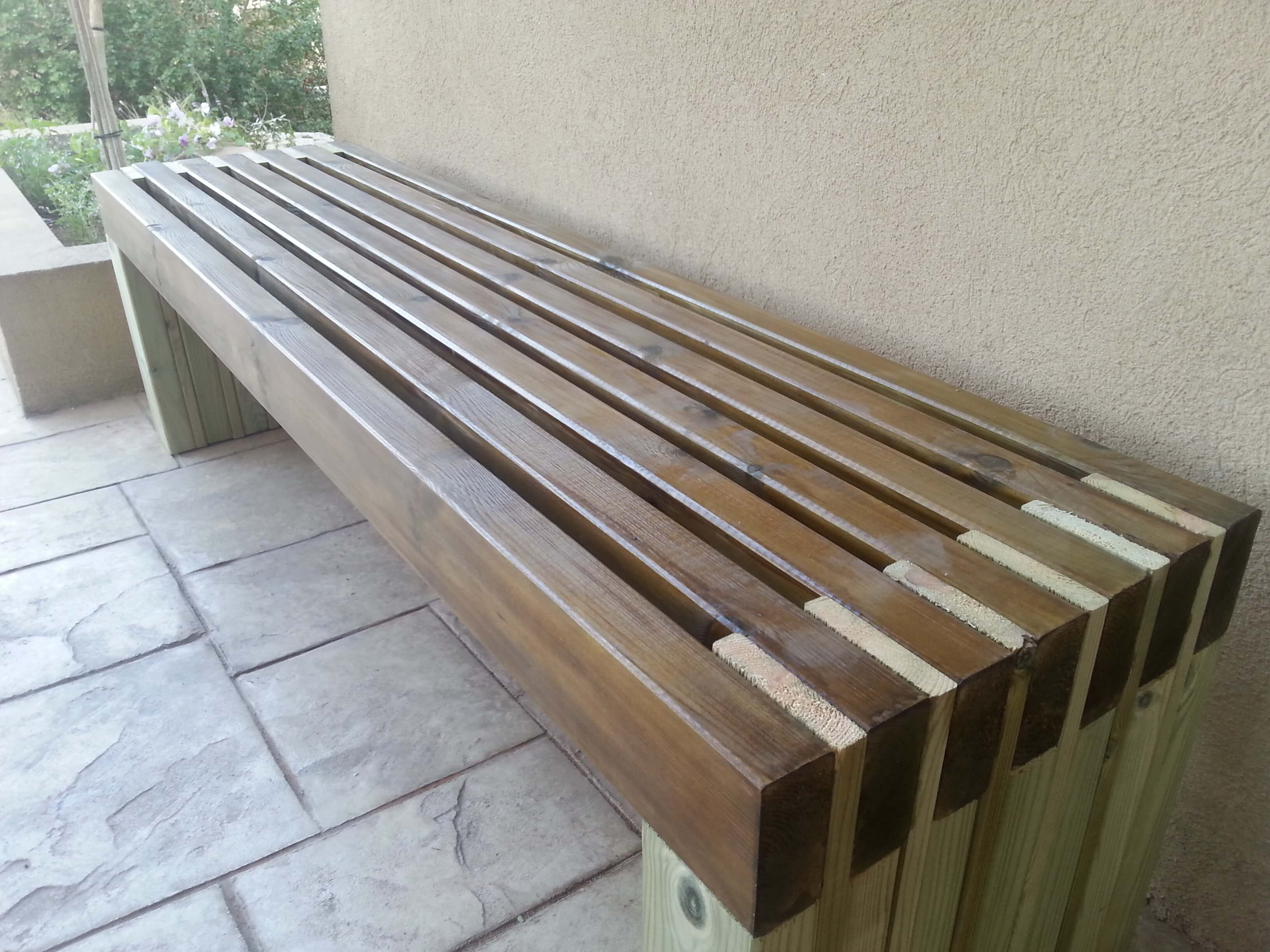 Diy Outdoor Bench The Hippest Pics