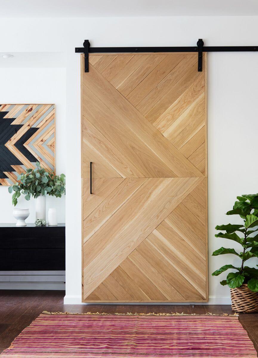 Southwestern Symmetry Geometric Wooden Door
