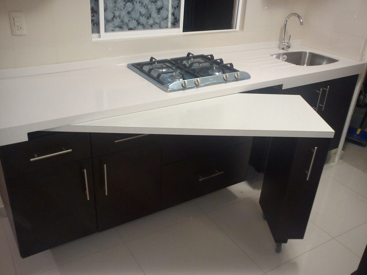 Space Saving Hidden Counter Top