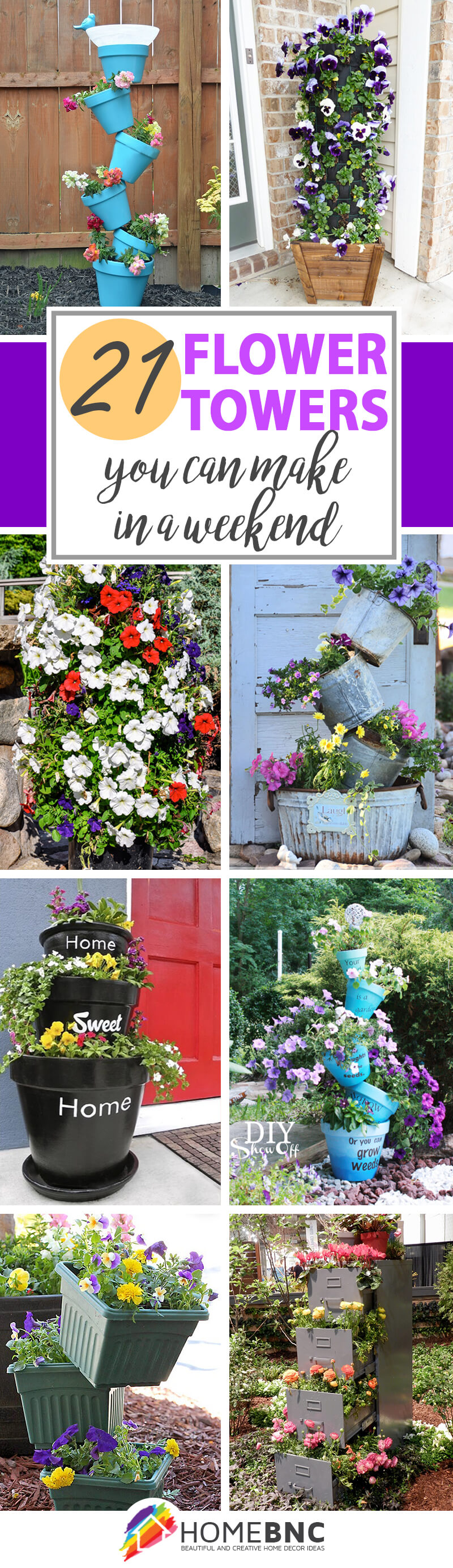 DIY Flower Tower Ideas