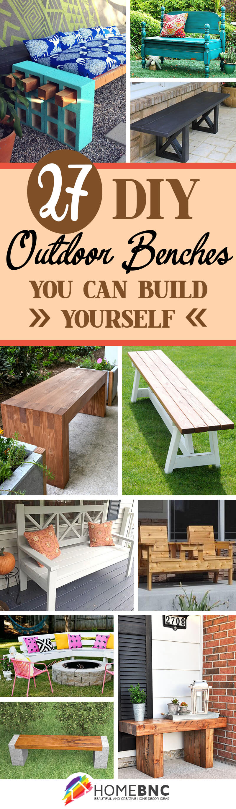 27 best diy outdoor bench ideas and designs for 2018 diy outdoor bench decor ideas solutioingenieria Image collections