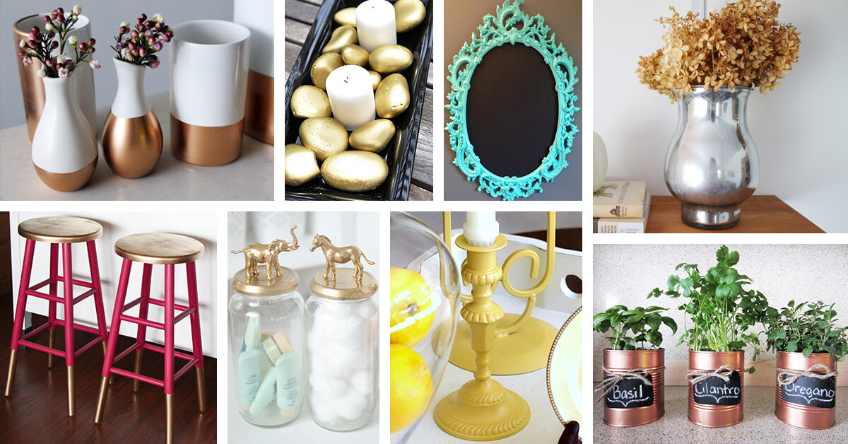 25 Best Diy Spray Paint Makeover Ideas And Designs For 2019