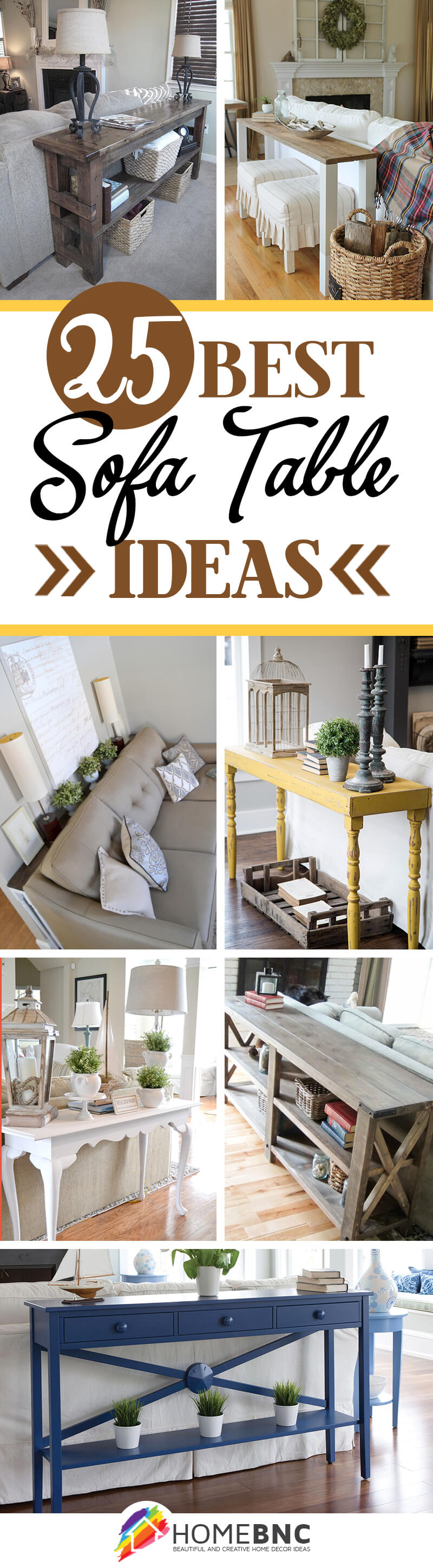 25 Simply Divine Sofa Table Ideas