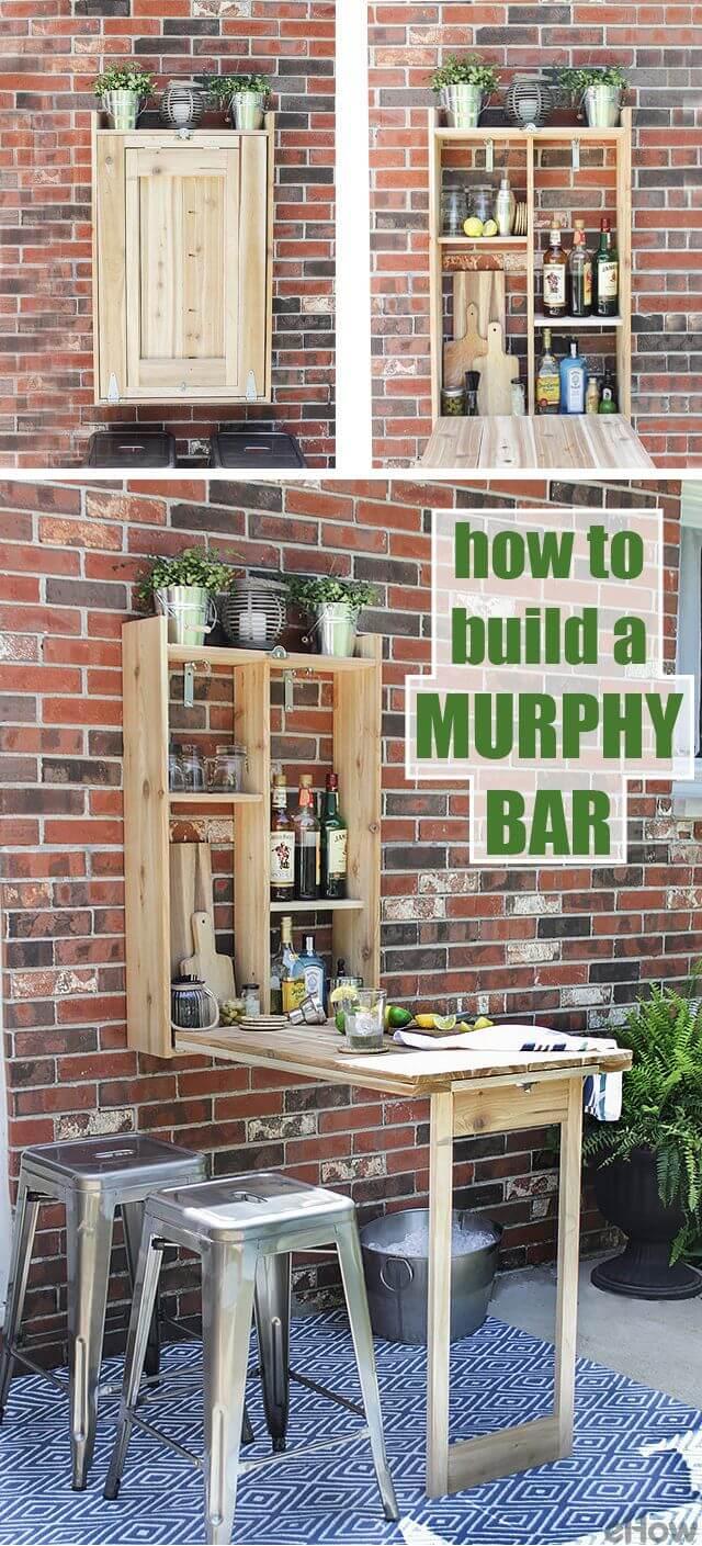 A Wooden Fold Away Murphy Bar