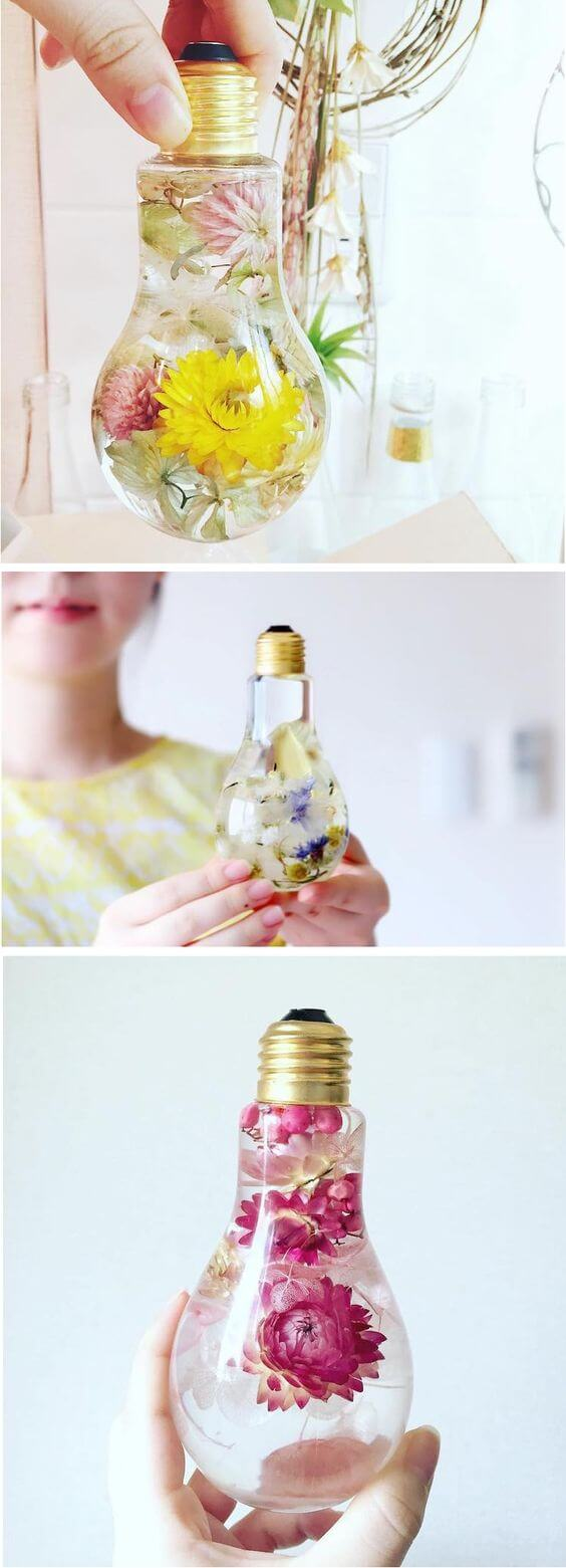 Tres Jolie Repurposed Botanical Lightbulb