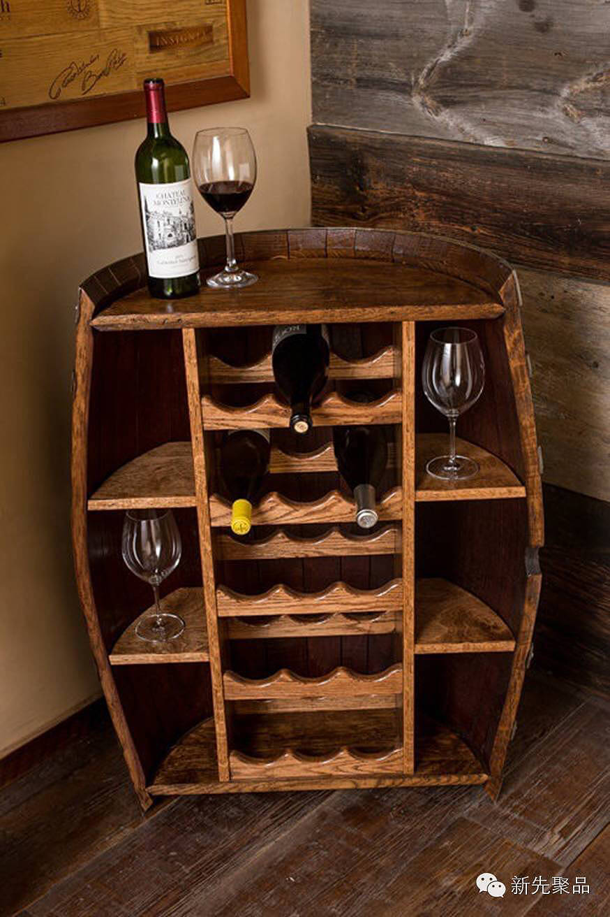 Merchant's Cellar Repurposed Wine Barrel Bar