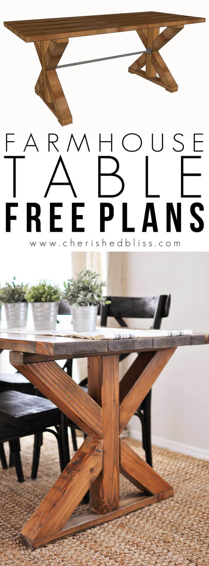 Reclaimed Wood Farmhouse Dining Table