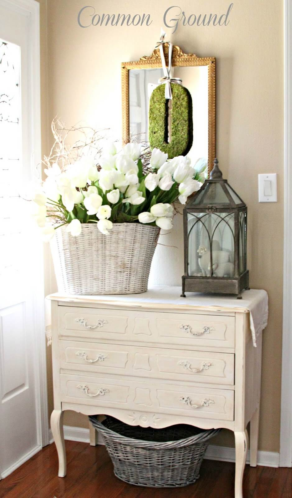 Springtime French Country-Inspired Foyer Display
