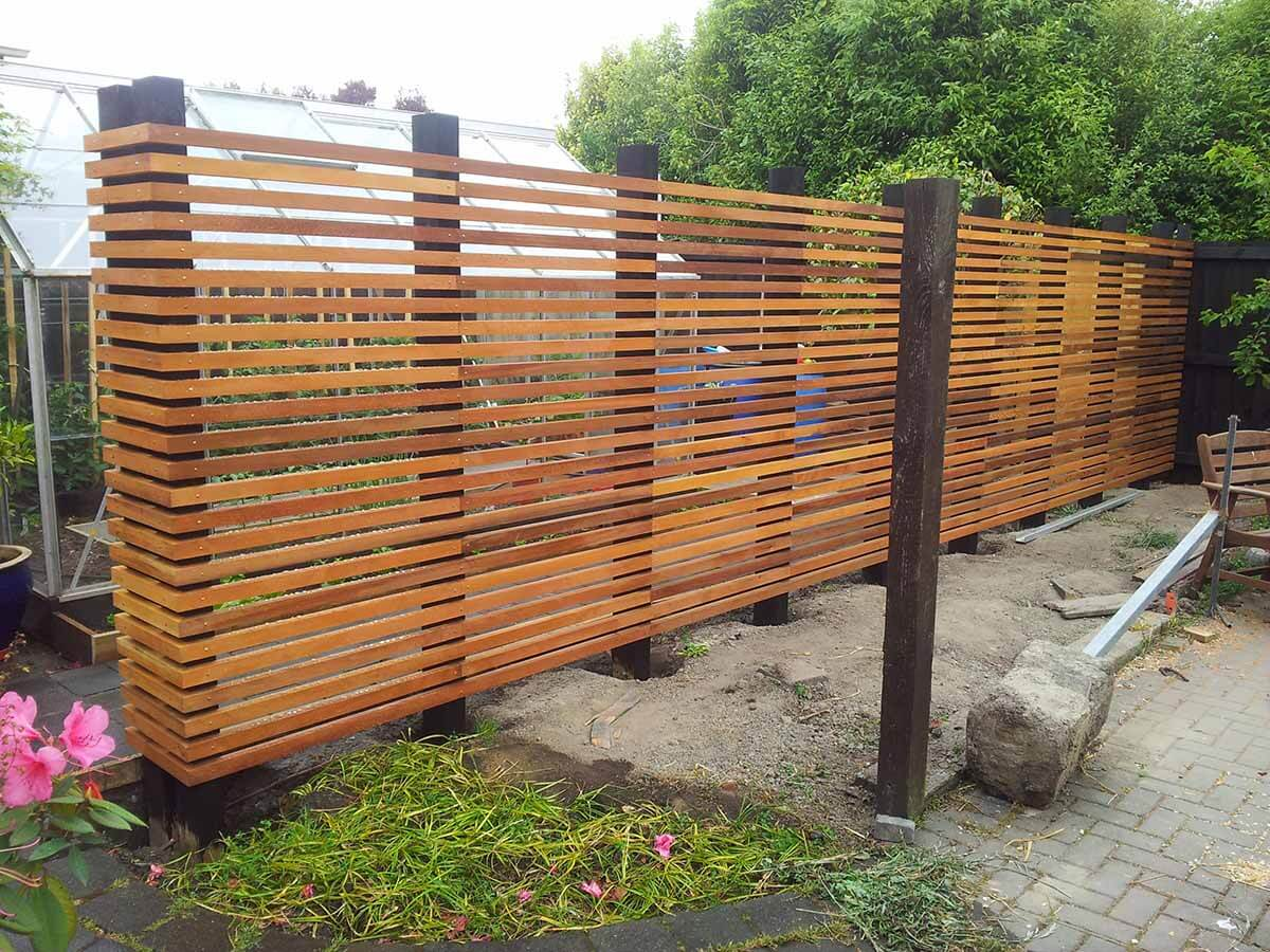 Modernistic Wooden Garden Fence