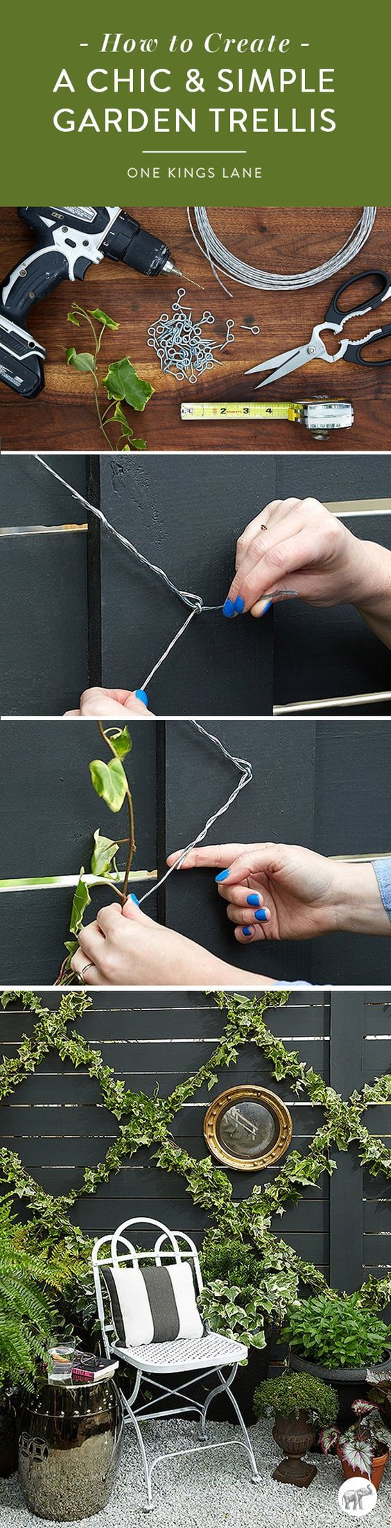 Simple Trellis Ideas Part - 50: Super Simple Wire Tellis For Vines