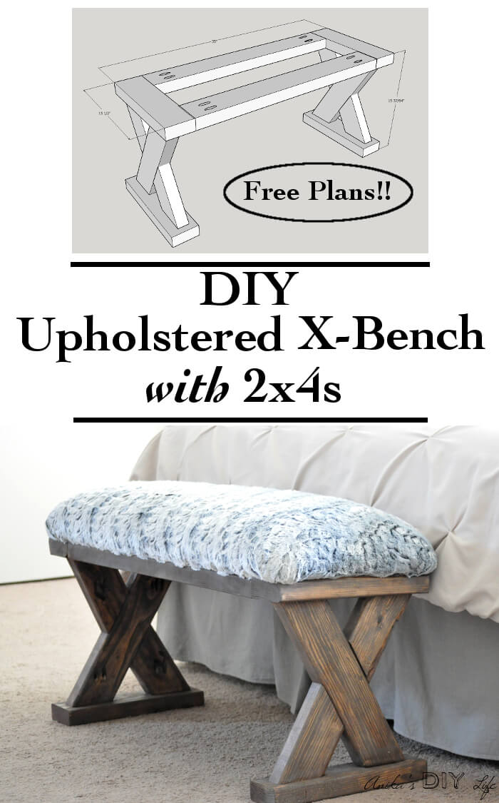 Easy Upholstered Wooden Entryway Bench