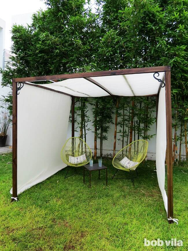 22 best diy sun shade ideas and designs for 2018 diy breezy outdoor room solutioingenieria Image collections