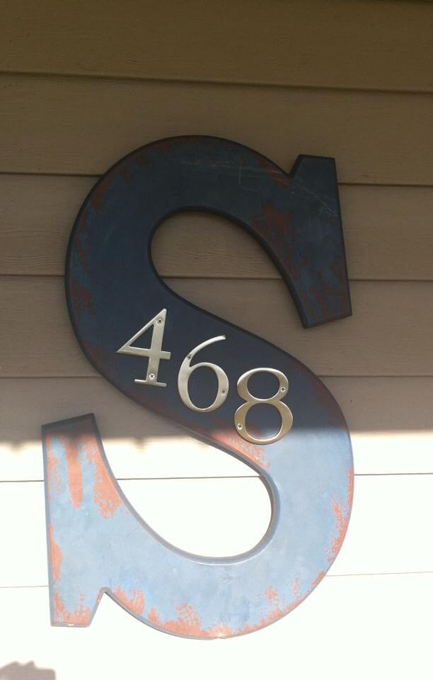 Schoolhouse Letter-To-House Number Plaque