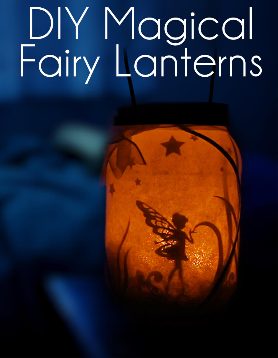 Fun Paper Cutout DIY Magical Fairy Lantern