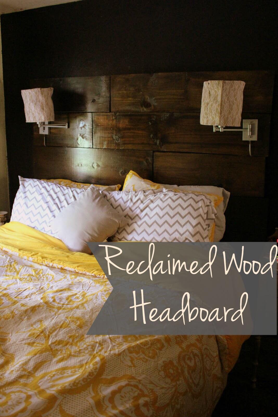 Rich and Earthy Bedroom Headboard