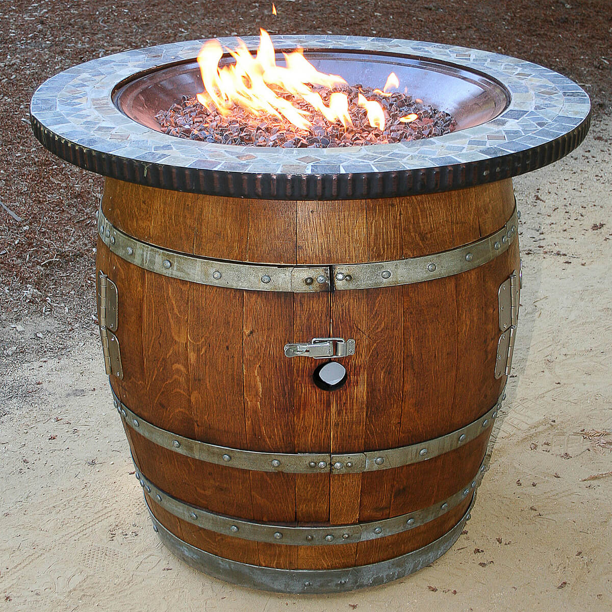 Vineyard Wine Barrel Fire Pit