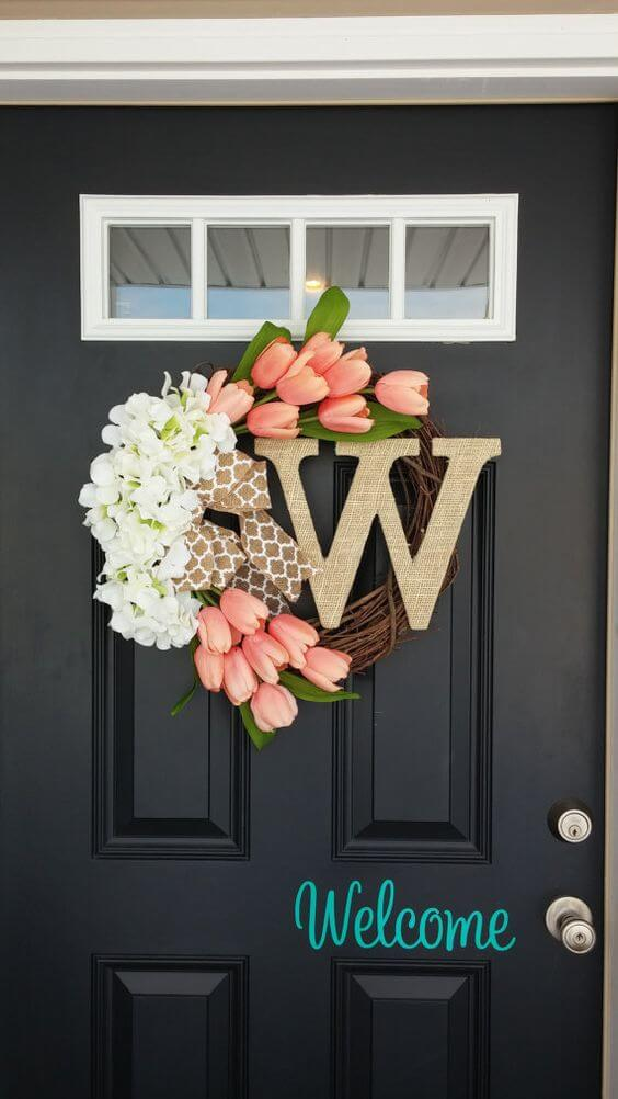Sweetly Simple Summer Welcome Wreath