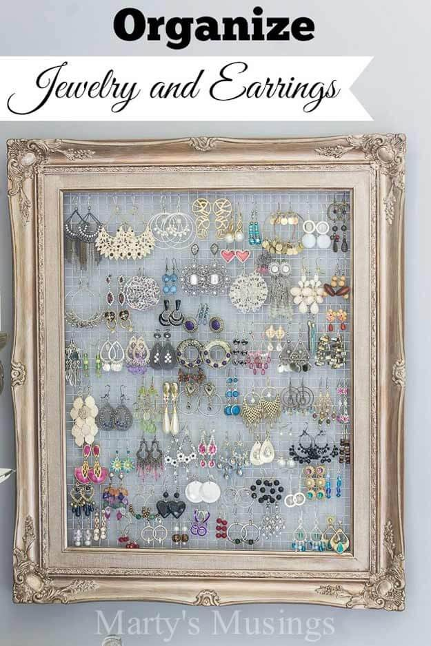 Beauty As Art Framed Earring Holder
